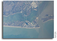 Photos: Galveston - Day and Night - As Seen From Orbit