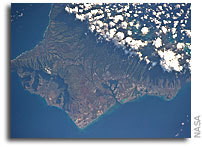 Photo: Oahu As Seen From Orbit