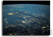 Photo: The Agean Sea At Night As Seen From Orbit