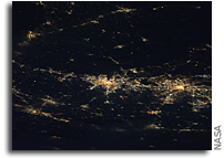 Photo: Baltimore-Washington Area At Night As Seen From Orbit