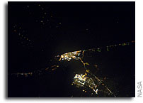 Photo: Galveston At Night As Seen From Orbit
