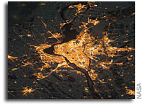 Photo: Montreal At Night As Seen From Orbit