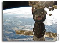 Orbital View: Soyuz Spacecraft and Newfoundland