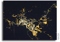Photo: Brasilia, Brazil At Night As Seen From Orbit