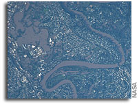 Photo: Flooding in Brisbane, Australia As Seen From Orbit