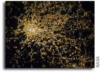 Photo: Milan, Italy As Seen From Orbit at Night