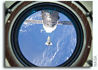 Photo: Discovery Approaches International Space Station