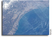 Photo: Sendai Coast of Japan As Seen From Orbit