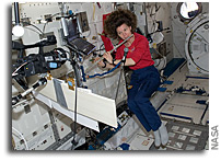 Photo: Playing the Flute in Space