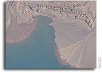 River deltas and Lake Ayakum in Tibet As Seen From Orbit