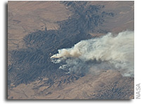 Photo: Horseshoe 2 Fire in Arizona As Seen From Orbit