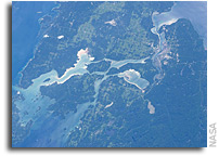 Photo: Sault Ste Marie, Ontario As Seen From Orbit