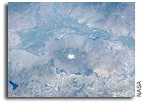 Photo: Aras River and Turkey-Armenia-Iran border region As Seen From Orbit