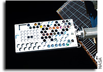 Photo: Materials on International Space Station Experiment