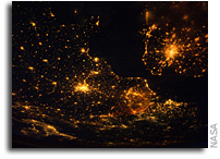 Photo: London and Paris As Seen at Night From The International Space Station