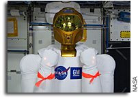 Photo: Robonaut 2 Powered Up In Space - With Safety Tags