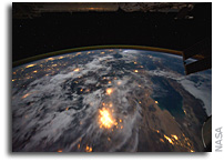 Photo: Southern California and Baja California As Seen at Night From The International Space Station