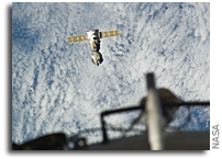 Photos: Soyuz TMA-21 Heading Home as Seen from the International Space Station