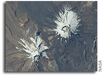 Photo: Parinacota Volcano As Seen From Space
