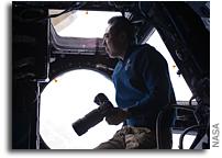 Photo: JAXA Astronaut Satoshi Furukawa Backlit Only By Earthshine