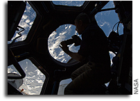Gazing Out of the Cupola at Earth Below