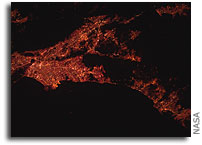 Infrared Image: Los Angeles Metropolitan Area As Seen From the International Space Station