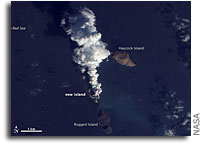 Photo: Volcanic Activity in the Red Sea And Birth of a New Island