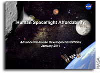 NASA JSC Presentation: Human Spaceflight Affordability: Advanced In-house Development Portfolio January 2011