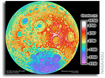 New Lunar Reconnaissance Orbiter High-Resolution Topographic Map of the Moon 