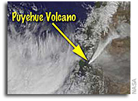NASA/NOAA GOES Project Releases 2 Week Movie of Chilean Volcanic Eruption