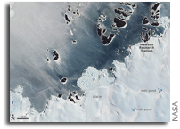 Images: Ice Varieties along the Antarctic Coast As Seen From Space