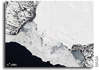 Photo: Roze Glacier, Novaya Zemlya As Seen From Space