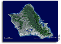 Photo: Oahu, Hawai'i As Seen From Space