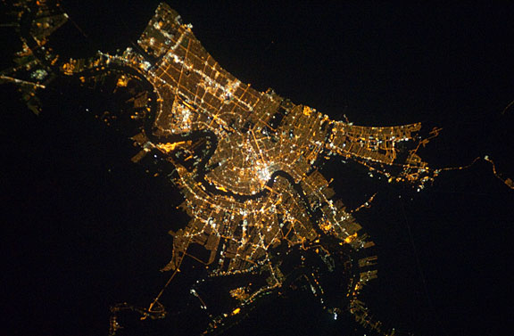 Photo New Orleans At Night As Seen From Orbit