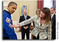 Photo: Astronauts In The Oval Office