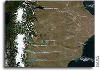 Photo: Glacial Lakes of Patagonia As Seen From Orbit