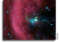 Spitzer Discovers Time-Delayed Jets Around Young Star