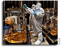 NASA's Two Lunar-Bound Grail Spacecraft, Vacuum-Packed