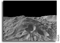 A New View Of The Mountain at Vesta's South Pole