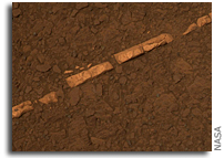 NASA Mars Rover Finds Mineral Vein Deposited by Water