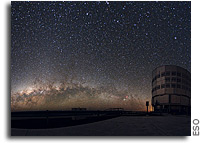Image: ESO's Very Large Telescope in the Atacama Desert - and the Mily Way