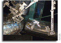 Photo: Robotics Refueling Mission Payload Being Installed