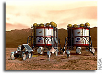 The First Nuclear Power Plants for Settlements on the Moon and Mars
