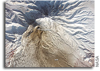 Photo: Pyroclastic Flow Remnants at Shiveluch Volcano As Seen From Orbit