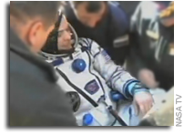 Space Station Trio Lands Safely In Kazakhstan
