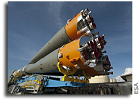 First Soyuz ready for liftoff from French Guiana