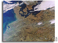 Photo: Earth from Space: Central Europe