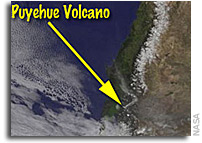 Image: Puyehue-Cordon volcano Eruption As Seen From Orbit