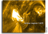 NASA Images: Solar Active Region 1429 and Flare