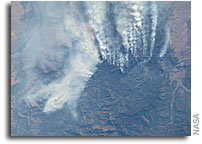 Image: Wildland Fires in Idaho as Seen from the International Space Station